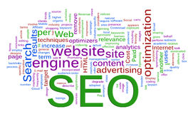 Wordcloud of SEO - Search Engine optimization Royalty Free Stock Photography