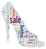 Wordcloud: silhouette of shoes Stock Images