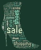 Wordcloud: silhouette of shoes Royalty Free Stock Photo