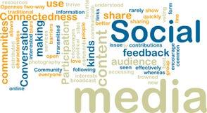 Wordcloud social de los media fotos de archivo
