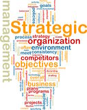 Wordcloud stratégique de management Images stock
