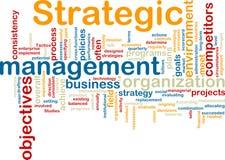 Wordcloud stratégique de management Images stock