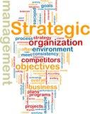 Wordcloud strategico della gestione Immagini Stock