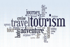 Wordcloud of turism. And travel words Royalty Free Stock Photography
