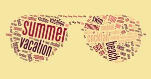 Wordcloud van glazen vector illustratie
