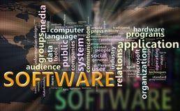 Wordcloud van ?software? royalty-vrije illustratie