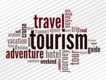 Wordcloud van turism royalty-vrije illustratie