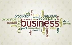 Wordcloud van zaken Stock Afbeeldingen