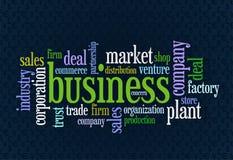 Wordcloud van zaken Stock Foto