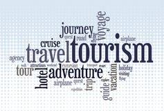 Wordcloud von turism Lizenzfreie Stockfotografie