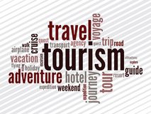 Wordcloud von turism Lizenzfreies Stockbild