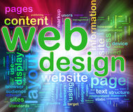 Wordcloud of Web design Stock Image