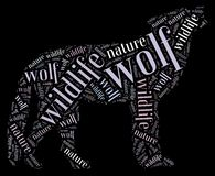 Wordcloud of wolf Stock Images