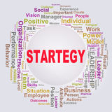Wordcloud words tags of strategy Royalty Free Stock Image