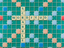 Wordfeud is the app version of scrabble. Wordfeud is the hot and trendy version of scrabble Royalty Free Stock Photo