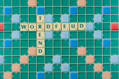 Wordfeud is the app version of scrabble Royalty Free Stock Image
