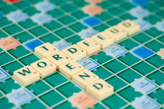Wordfeud is the app version of scrabble. Wordfeud is the hot and trendy version of scrabble Royalty Free Stock Images