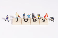 Wordgames- Jobs Lizenzfreies Stockfoto