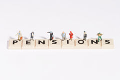 Wordgames- Pension Royalty Free Stock Photos