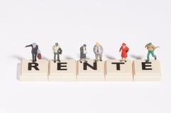 Wordgames- rente stock image