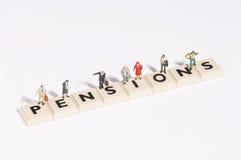 Wordgames- Rentenbezug Lizenzfreie Stockfotografie