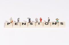 Wordgames- Rentenbezug Lizenzfreie Stockfotos