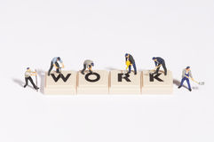 Wordgames- work Stock Photos