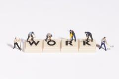 Wordgames- work stock photos