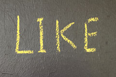 Wording of  like on the boards Stock Image