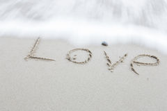 Wording love Royalty Free Stock Photos