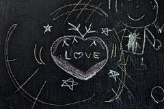Wording of love on the boards Stock Photos