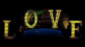 Wording Love sign Royalty Free Stock Images