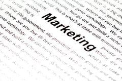 Wording Marketing Royalty Free Stock Photos