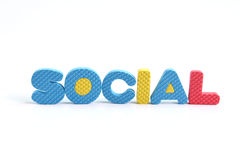 Wording social on white background Stock Images