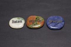 Wording Stones Royalty Free Stock Photo