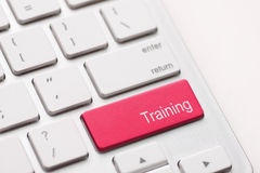 Wording Training on computer keyboard Stock Image