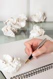 Wordless paper Stock Image
