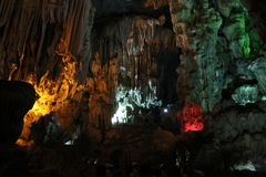 On the wordly caves, Vietnam. Visit the caves terrestrial , Baie de l`halong Vietnam Royalty Free Stock Image