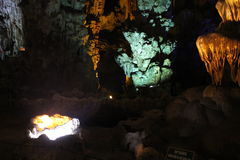 On the wordly caves, Vietnam. Visit the caves terrestrial , Baie de l`halong Vietnam Stock Photos