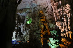 On the wordly caves, Vietnam. Visit the caves terrestrial , Baie de l`halong Vietnam Royalty Free Stock Photo