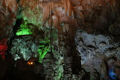 On the wordly caves, Vietnam. Visit the caves terrestrial , Baie de l`halong Vietnam Stock Photo