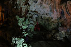 On the wordly caves, Vietnam. Visit the caves terrestrial , Baie de l`halong Vietnam Stock Photography