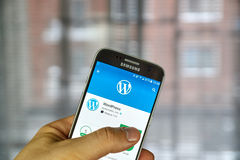 Wordpress mobile application Stock Images