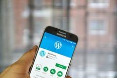 Wordpress mobile application Royalty Free Stock Photo