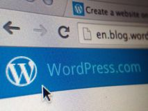 Wordpress website Arkivbild