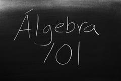 Álgebra 101 On A Blackboard Stock Photo