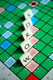 WORDS. Scrabble Board With Pieces Spelling WORDS Royalty Free Stock Photography