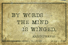 By words Aristophanes Stock Photography
