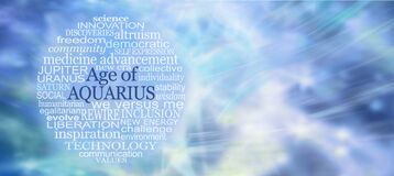 Free Words Associated With The Age Of Aquarius Word Tag Cloud Royalty Free Stock Photos - 205283578