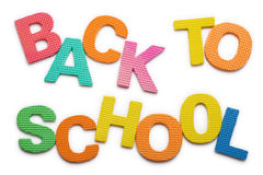 Words Back to school Royalty Free Stock Photography